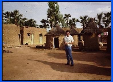 Randy in a Jula village